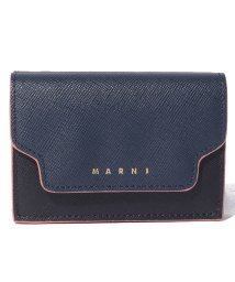 MARNI/【MARNI】3つ折り財布/TRUNK【NIGHT BLUE+BLACK+WINE】/502436485