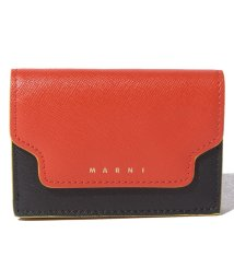 MARNI/【MARNI】3つ折り財布/TRUNK【ARABESQUE+BLACK+SOFT BEIGE】/502436487
