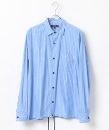 LAZAR/ブロードストライプ BIGコーチシャツジャケット/502470488