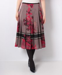LAPINE BLANCHE/【セットアップ対応】Erica サテン小紋×花柄パネルプリント スカート/502486388