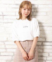 INGNI/襟レースボリューム袖Tシャツ                 /502487018