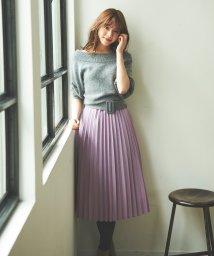 31 Sons de mode/【美人百花10月号掲載】アンゴラ混プリーツスカートドッキングワンピース/502492712