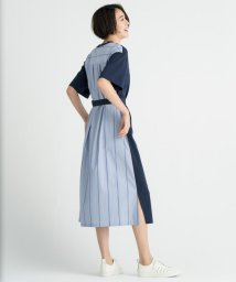JIYU-KU /【洗える】シルキータッチ シャツコンビワンピース/502493924