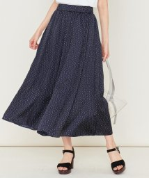KUMIKYOKU/【洗える】リボンドットプリント スカート/502493930