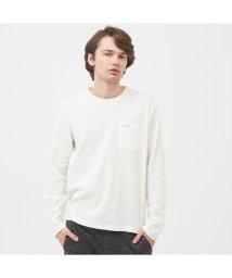 AIGLE MEN/吸水速乾 ミニワッフル 長袖ポケTシャツ/502494155