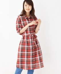 SHOO・LA・RUE/綿チェックシャツワンピース/502496907