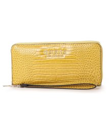 GUESS/ゲス GUESS CLEO LARGE ZIP AROUND WALLET (YELLOW)/502496944