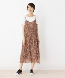 SHOO・LA・RUE DRESKIP/Tシャツ×フラワーしわキャミワンピースSET/502497081