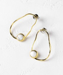 Perle Peche OUTLET/ストーン×フープピアス/502497196