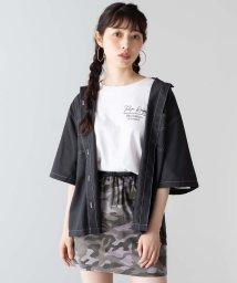 WEGO/WEGO/ステッチダブルポケットシャツ/502371899