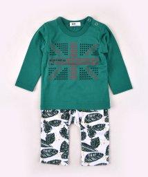 WASK/〈ベビー〉ユニオンジャックTシャツ&ボタニカルパンツセット/502431803