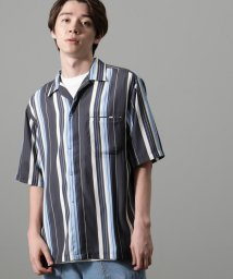 JUNRed/レーヨンマルチストライプシャツ/502478218
