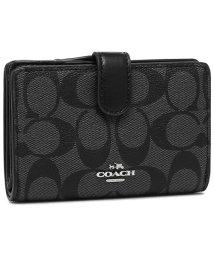 COACH/コーチ 二つ折り財布 アウトレット レディース COACH F23553 SVDK6 ブラック/502481057