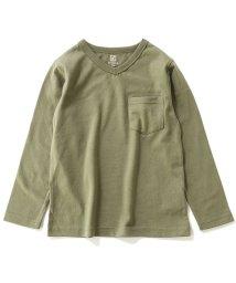 devirock/キッズ 子供服 Vネック長袖Tシャツ 男の子 女の子/502499037