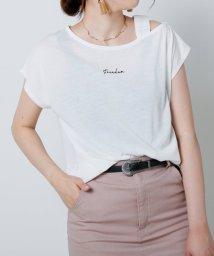 framesRayCassin/ワンショルロゴ刺繍Tシャツ/502499272