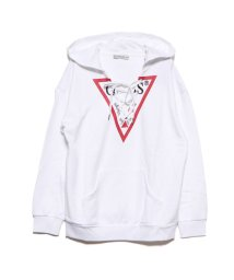 GUESS/ゲス GUESS TRIANGLE LOGO HOODIE LACE-UP PARKA (TRUE WHITE)/502499832