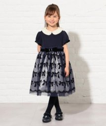 KUMIKYOKU KIDS/【120~160cm】リボンフロッキードレス ワンピース/502501019