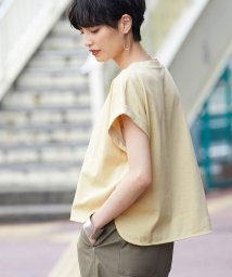 ROPE' mademoiselle/【洗える】ハイゲージ天竺ワイドショートTシャツ/502376411
