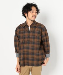 GLOSTER/スキッパー七分袖 チェックシャツ/502487597
