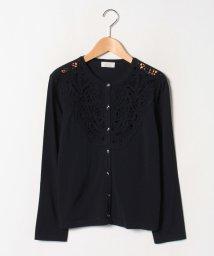 GUEST JOCONDE/【大きいサイズ】ANA 共糸コード刺繍 カーディガン/502490510