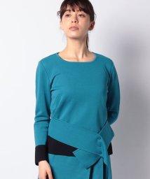 LAPINE BLANCHE/【セットアップ対応】16Gミラノリブ 配色使いセーター /502490547