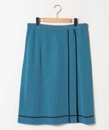 LAPINE ROUGE/【大きいサイズ】【セットアップ対応】16Gミラノリブ 配色ライン使いスカート/502490554