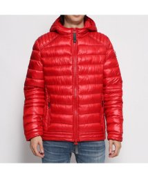 GUESS/ゲス GUESS PATENT SUPER LIGHT PUFFA JACKET (TULIP RED)/502500646