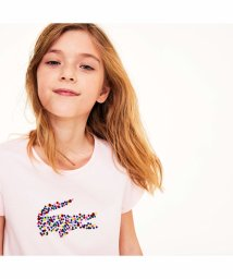 LACOSTE KIDS/GIRLSマルチカラーボルカドットワニロゴTシャツ/502501087