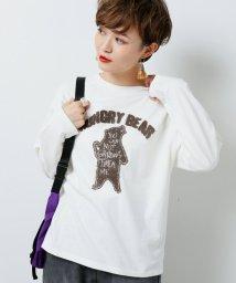 DOUBLE NAME/さがら刺繍ロンT/502502038