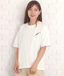 Afelice/ワンポイントTシャツ 可愛い シンプル カジュアル 羽 ワンポイント 夏【ra-2176】/502502293