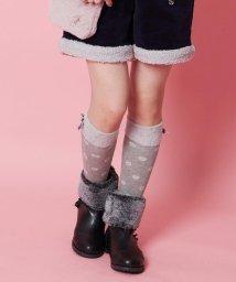 KUMIKYOKU KIDS/【KIDS雑貨】ファー付きドットソックス(16~24cm)/502503145