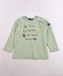 BeBe/スムースアニマルロゴプリントTシャツ/502487786