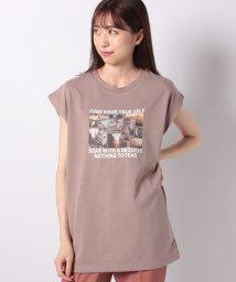 INGNI/フレンチスリーブ転写プリントチュニックTシャツ/502499028