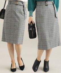 ViS/【EASY CARE】【着丈が選べる】先染めチェック柄タイトスカート/502501955