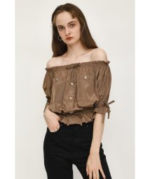 SLY/OFF SHOULDE SILKY TOPS/502504227