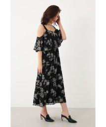 rienda/EmbroideryオフショルフレアOP/502504246