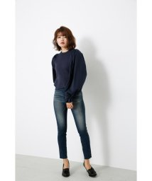 rienda/Shirt SLV Combi KNIT TOP/502504285