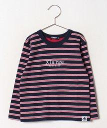 XLARGE KIDS/ロゴボーダーTシャツ/502492622