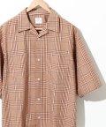coen/チェックオープンカラーワイドフィットシャツ/502492653