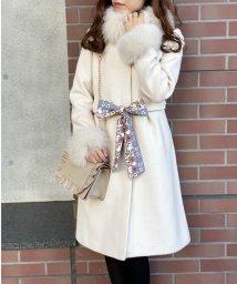 MISCH MASCH/【美人百花12月号掲載】スカーフ付きファー使いタックコート/502487653