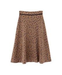 PROPORTION BODY DRESSING/フェミニンレオパードフレアスカート/502508297