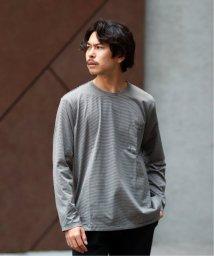 EDIFICE/ボーダークルーネック ポケットロングTシャツ/502508708
