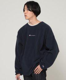 BEAMS OUTLET/Champion × BEAMS / 別注 POLARTEC フリース クルーネック スウェットシャツ/502509158