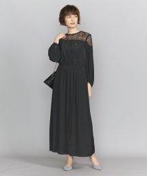 BEAUTY&YOUTH UNITED ARROWS/BY DRESS デシン×レース 6分袖ドレス/502495126