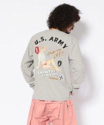 AVIREX/ノーズアート クルーネック長袖TシャツUS ARMY/CREW NECK T-SHIRT/502511086