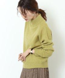 coen/【先行販売・手洗いできる・WEB限定カラー:ネイビー】ラムウールモックネックニット/502513285