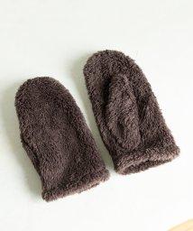 coen/【WEB限定色⇒ブラック・ミディアムブラウン・ライトピンク】フリースミトン(グローブ/手袋)/502513304