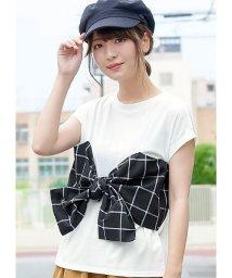 HAPPY EXP/チェックビスチェ付きTシャツ/502513753