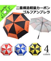 SantaReet/【PLAYEAGLE】UVカットダブルキャノピー軽量カーボンゴルフアンブレラ(IF-GF0001)/502511794