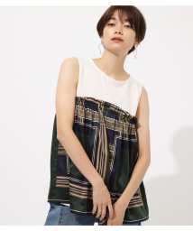 AZUL by moussy/SCARF MIX FABRIC TOPS/502514525